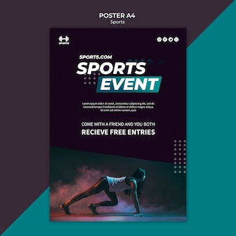 Poster template for sports event