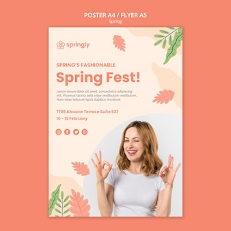 Poster template for spring fest