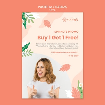 Poster template for spring sale