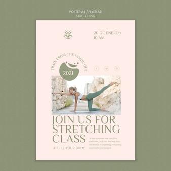 Modello di poster per corso di stretching