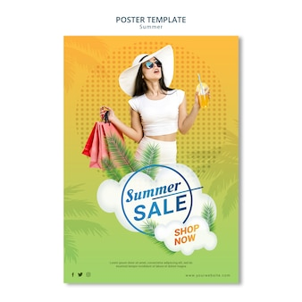 Poster template style summer sale
