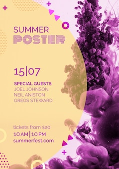 Poster template for summer festival