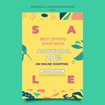 Modello di poster per la vendita estiva