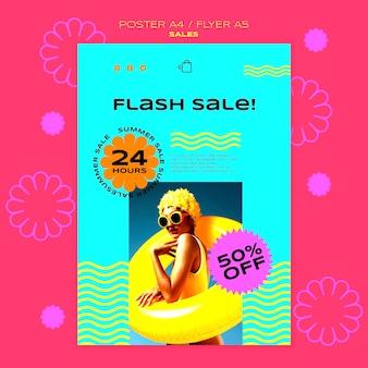 Modello di poster per la vendita della stagione estiva Psd Gratuite