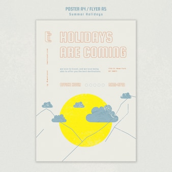 Poster template for summer vacation