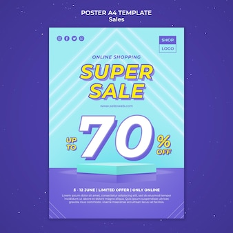 Poster template for super sale