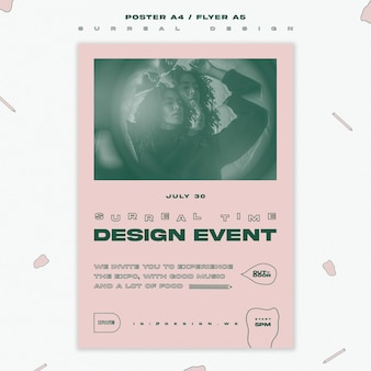Poster template surreal design