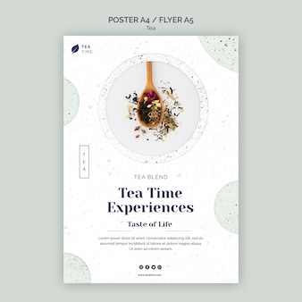 Poster template for tea time