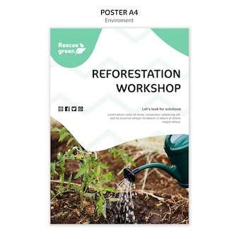 Poster template theme with environment