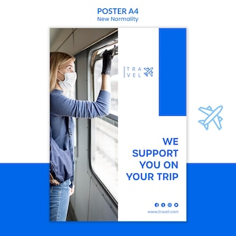 Poster template for travel booking