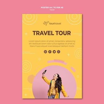 Poster template for traveling tour