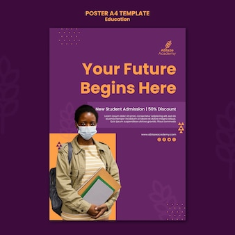 Poster template for university education