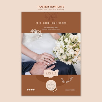 Poster template for wedding photography service