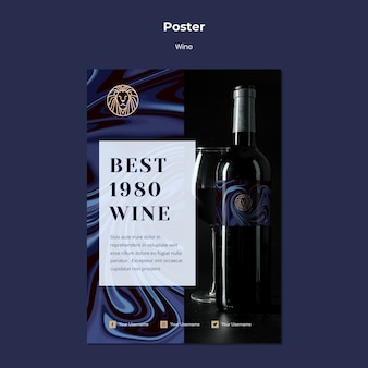 Poster template for wine business