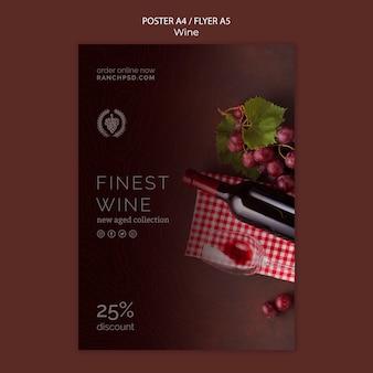 Modello di poster per la degustazione di vini