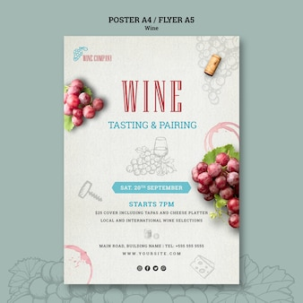 Poster template for wine tasting