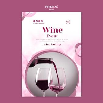 Modello di poster per degustazione di vini
