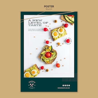 Poster template with brunch