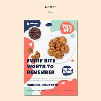 Poster template with cookies
