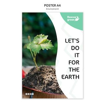 Modello del manifesto con il concetto di ambiente