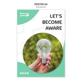 Шаблон постера с темой окружающей среды