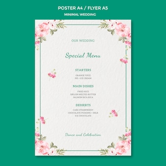 Poster template with wedding