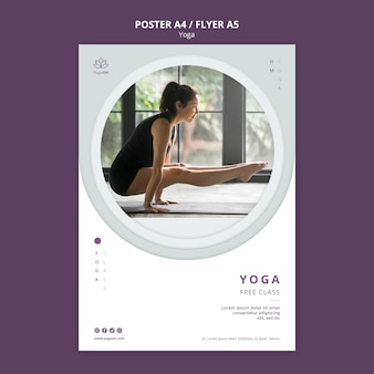 Poster template with yoga theme