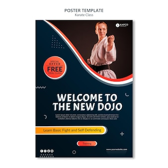 Poster template for women's karate class