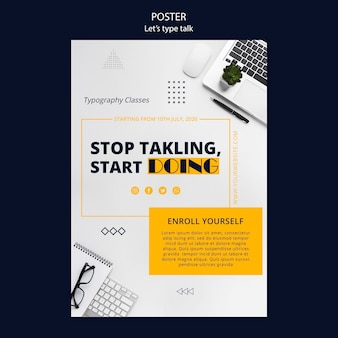 Poster template for work productivity