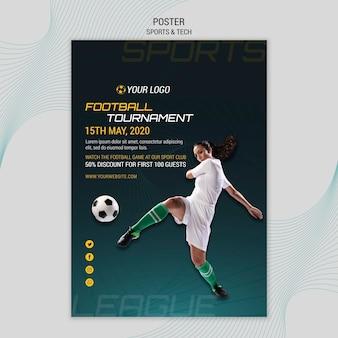 Tema di poster con sport e tecnologia