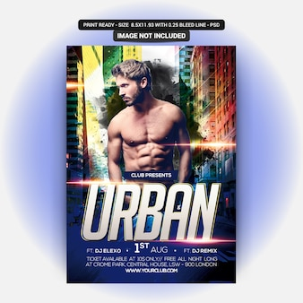 Poster for urban party flyer