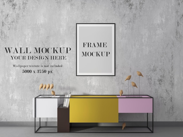 Poster and wall mockup ready for your design