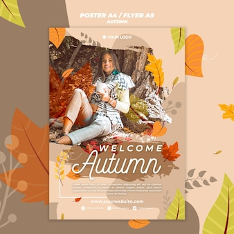 Poster for welcoming the autumnal season