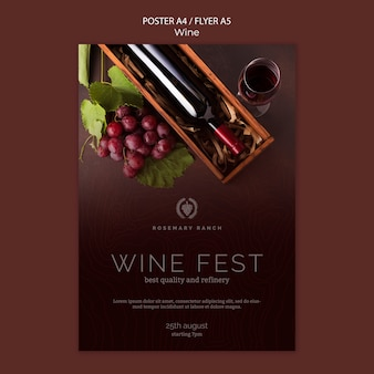 Poster for wine tasting