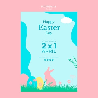 Poster with easter sale theme
