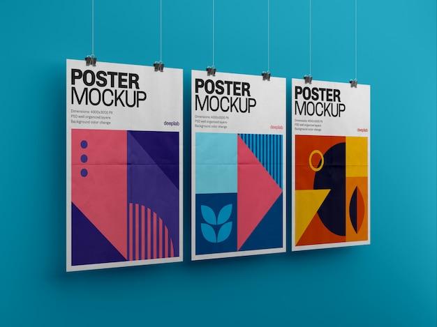 Постер с редактируемым фоном премиум макет
