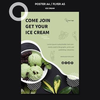 Плакат с концепцией мороженого