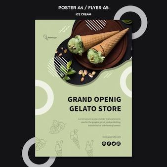 Постер с темой мороженого