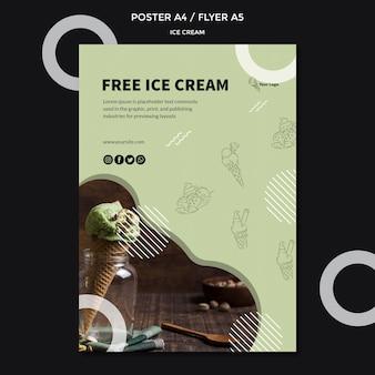 Постер с мороженым