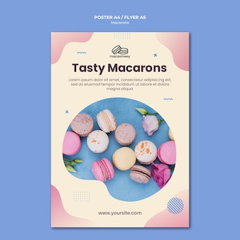 Poster with macarons