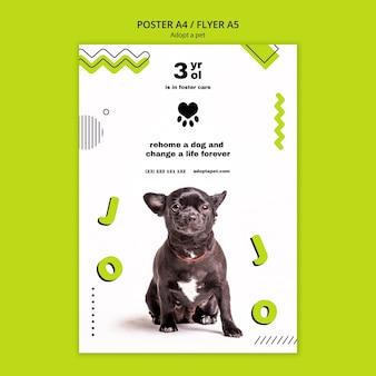 Плакат с дизайном шаблона для домашних животных
