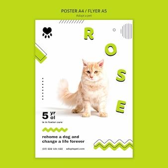 Плакат с темой усыновления домашних животных