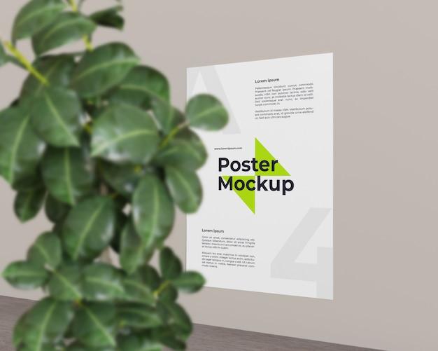 Постер с изображением макета растения, вид справа