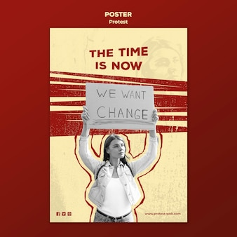 人権に抗議するポスター