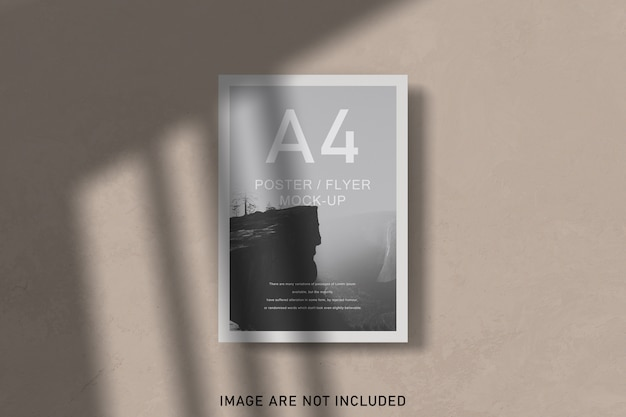 Posters mockup with shadow overlay