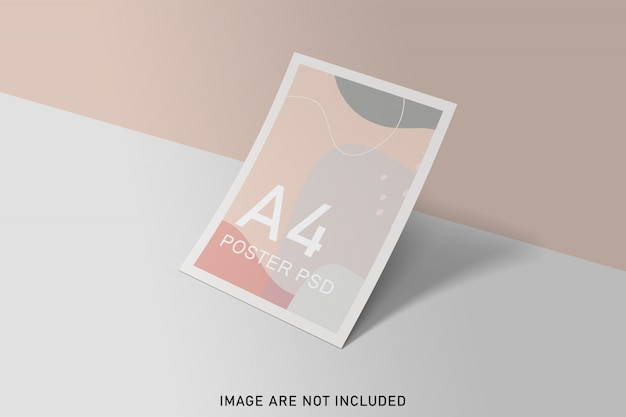 Posters mockup with soft color