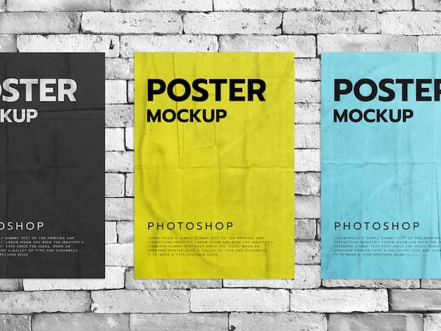 Постеры на фоне кирпичной стены
