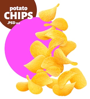 Potato chips banner