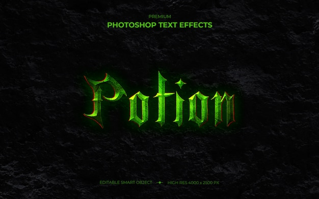 Potion text effect mockup