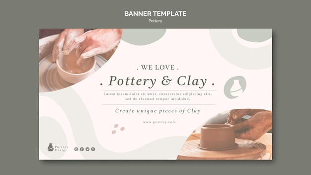 Pottery banner template